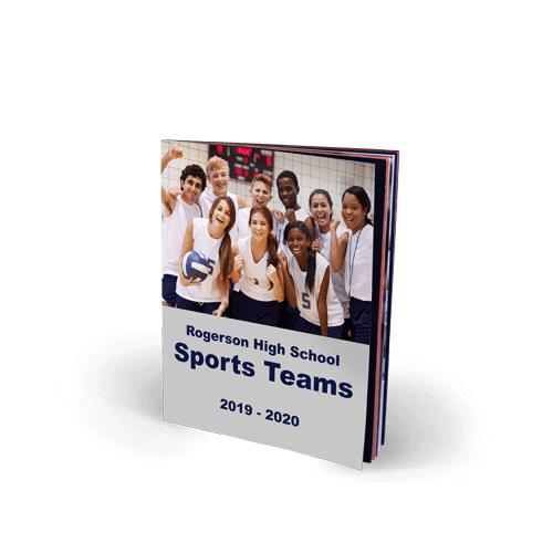8x10 Saddle Stitch Softcover Yearbook